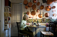 Book editor and author Judith Jones prepares a one-person meal in her apartment in New York City, USA, 2 October 2009.