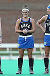 30 September 2016: Duke's Alexa Mackintire. The Duke University Blue Devils hosted the Boston College Eagles at Jack Katz Stadium in Durham, North Carolina in a 2016 NCAA Division I Field Hockey match. Duke won the game 6-2.