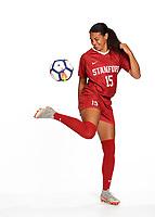 STANFORD, CA - August 28, 2018: 2018-2019 Stanford Women's Soccer Team Photo Day.