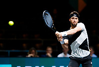 Rotterdam, The Netherlands, 11 Februari 2020, ABNAMRO World Tennis Tournament, Ahoy, <br /> Nikoloz Basilashvili (GEO). Photo: www.tennisimages.com