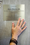 Kelly Munro's husband Steve passed away during the building the newly-opened Atlanta Ballet Michael C. Carlos Dance Centre in Atlanta, Georgia, so she had to step in. She touches a pillar that has a memorial for her late husband, seen September 13, 2010.