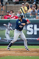 Travis Blankenhorn (7) of the Elizabethton Twins at bat against the Pulaski Yankees at Calfee Park on July 25, 2016 in Pulaski, Virginia.  The Twins defeated the Yankees 6-1.  (Brian Westerholt/Four Seam Images)