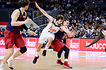 Real Madrid's Sergio Llull and FC Barcelona Lassa's Marcus Eriksson during Liga Endesa match between Real Madrid and FC Barcelona Lassa at Wizink Center in Madrid, Spain. March 12, 2017. (ALTERPHOTOS/BorjaB.Hojas)