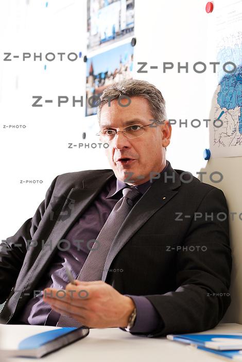 KMU-Portrait von Bruno Hollenweger, Geschaeftsfuehrer von neuem Zentralschweizer Fernsehen Tele 1 ehem. Tele Tell am 13. Januar 2009..Copyright © Zvonimir Pisonic