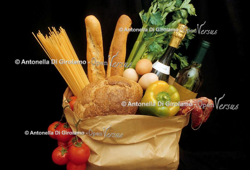 Spesa alimentare. Food expenditure...