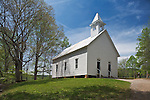 Great Smoky Mts. National Park, TN/NC<br /> White wood frame Methodist church in Cades Cove