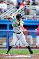 Jamestown Jammers infielder Anthony Gomez #9 during a game against the Batavia Muckdogs at Dwyer Stadium on June 22, 2012 in Batavia, New York.  Jamestown defeated Batavia 7-5.  (Mike Janes/Four Seam Images)