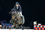 Jessica Mendoza on Wan Architect competes during Massimo Dutti Trophy  at the Longines Masters of Hong Kong on 21 February 2016 at the Asia World Expo in Hong Kong, China. Photo by Li Man Yuen / Power Sport Images
