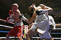 Quaise Khademi (white shorts) defeats Georgi Georgiev during a Boxing Show at York Hall on 10th February 2018
