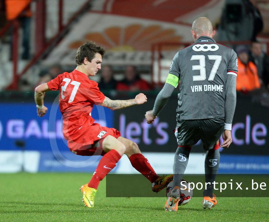 KV Kortrijk - Standard Luik : Benito Raman aan de bal (links)<br /> foto VDB / Bart Vandenbroucke