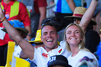Fans on Day two of the 2019 HSBC World Sevens Series Hamilton at FMG Stadium in Hamilton, New Zealand on Sunday, 27 January 2019. Photo: Dave Lintott / lintottphoto.co.nz
