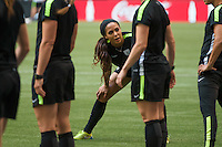 June 15, 2015:  Sydney LEROUX of the USA at an official practise session prior to a Group D match at the FIFA Women's World Cup Canada 2015 between Nigeria and the USA at BC Place Stadium on 16 June 2015 in Vancouver, Canada. Sydney Low/Asteriskimages.com