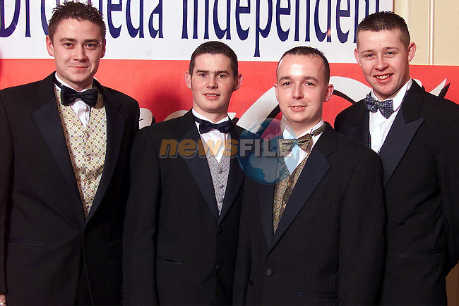 Mark Millar, Paddy O'Brien, Gerard McGuirk and Paul O'Brien at the Drogheda Independent / drogheda Concentrates Sportstar of the Year Awards..Picture: Paul Mohan/Newsfile