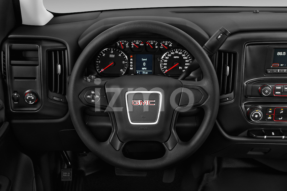 Car pictures of steering wheel view of a 2016 GMC Sierra-1500 2WD-Regular-Cab-Long-Box 2 Door Pick-up Steering Wheel