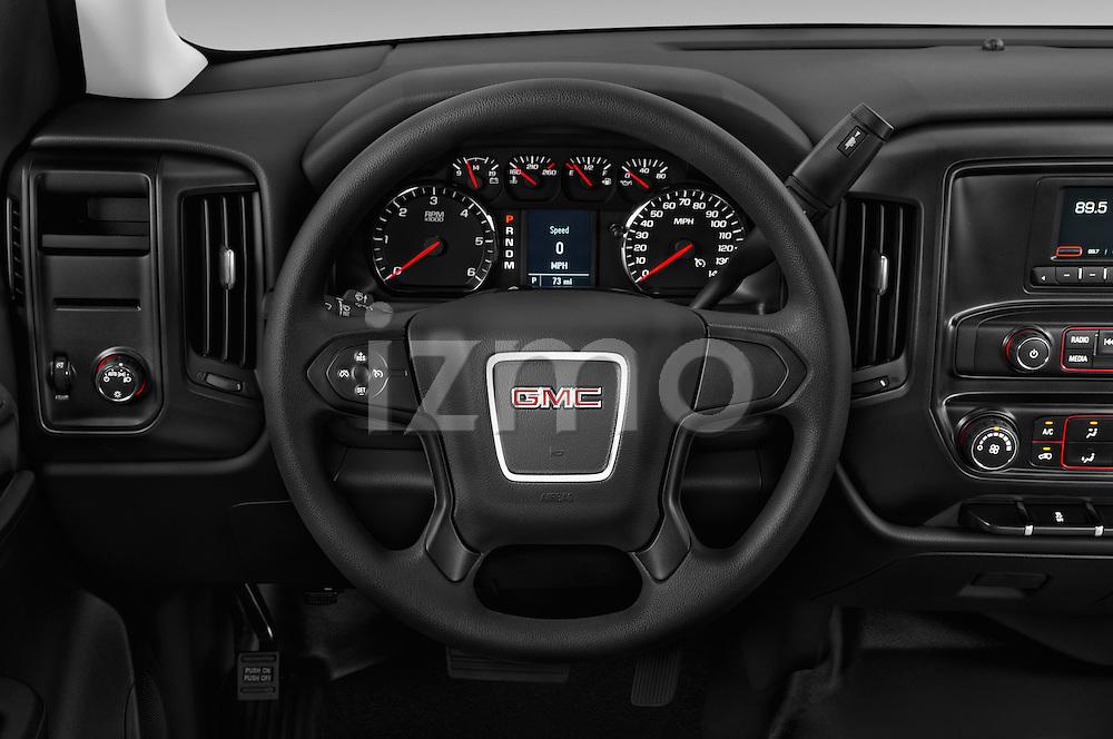 Car pictures of steering wheel view of a 2016 GMC Sierra-1500 2WD-Regular-Cab-Long-Box 2 Door Pick-up Steering Wheel
