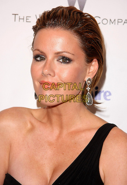 KATHLEEN ROBERTSON.Relativity Weinstein Company 68th Annual Golden Globe Awards After Party Presented by Marie Claire held at the Beverly Hilton, Beverly Hills, California, USA..January 16th, 2011.headshot portrait black one shoulder earrings silver hair slicked back  .CAP/ADM/TB.©Tommaso Boddi/AdMedia/Capital Pictures.