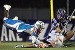 San Francisco Dragons vs Los Angeles Riptide.Lebard Stadium, Orange Coast College,Huntington Beach, California.Chazz Woodson (#3) and Matt Vallone (#45).506P0874.JPG.CREDIT: Dirk Dewachter