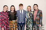 Ready to take to the stage in fashion from MacBees & Simply Suits at the Intermediate School Killorglin Fashion Show on Thursday night<br /> L-R Milly Foley, Christina O'Brien, Adam Neary, Nessa Healy & Ava O'Halloran.
