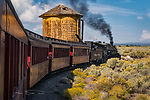 Whistle Stop at Lava Tank ©2017 James D Peterson.  On the narrow gauge Cumbres and Toltec Scenic Railroad (formerly part of the Denver and Rio Grande Western Railway), engine 489 makes a whistle stop.  This historic stretch of the old D&RGW line, between Antonito, Colorado and Chama, New Mexico, crosses the state line 11 times along its 64 mile route through the San Juan Mountains.  This tank takes its name from the lava flows that form the plain upon which it is situated.