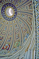 The cupola at St. Peter's Basilica, The Vatican, Rome Italy