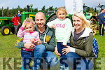 Isla, Paul, Phoebe and Hayleigh Carter Beaufort at the Treashing for Cancer in Beaufort on Sunday