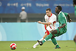 19 August 2008: Sepp De Roover (BEL) (2).  The men's Olympic soccer team of Nigeria defeated the men's Olympic soccer team of Belgium 4-1 at Shanghai Stadium in Shanghai, China in a Semifinal match in the Men's Olympic Football competition.