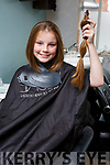 Alanna Houlihan in the Vogue Hairdressers in Tralee on Tuesday, as  Alanna is donating her hair to the Rapunzel Charity,