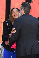Naomie Harris &amp; Jeffrey Dean Morgan arriving for the &quot;Rampage&quot; premiere at the Cineworld Empire Leicester Square, London, UK. <br /> 11 April  2018<br /> Picture: Steve Vas/Featureflash/SilverHub 0208 004 5359 sales@silverhubmedia.com