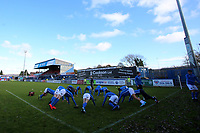 A much changed Macclesfield Town team warm up pre match during Macclesfield Town vs Kingstonian, Emirates FA Cup Football at the Moss Rose Stadium on 10th November 2019