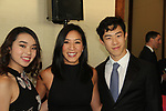 Karen & Nathan Chen & Michelle Kwan at Figure Skating in Harlem's Champions in Life (in its 21st year) Benefit Gala recognizing the medal-winning 2018 US Olympic Figure Skating Team on May 1, 2018 at Pier Sixty at Chelsea Piers, New York City, New York. (Photo by Sue Coflin/Max Photo)