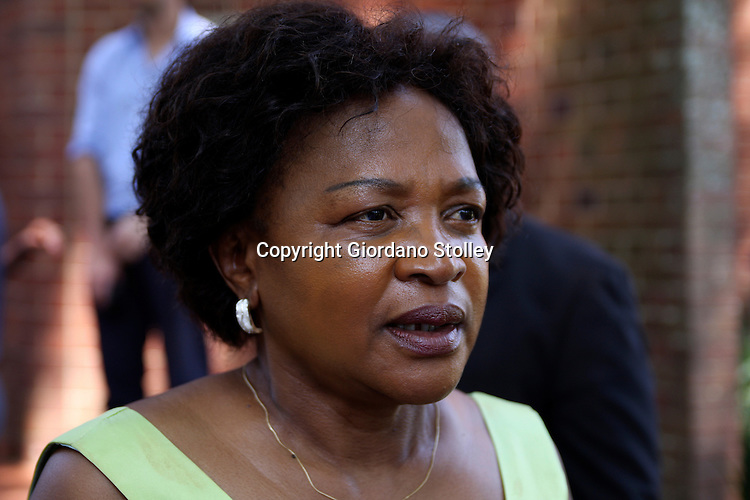 DURBAN - 8 January 2013 - Baleka Mbete, the national chairperson of the African National Congress, speaks to the media at the Inanda Seminary in Durban. Picture: Allied Picture Press/APP