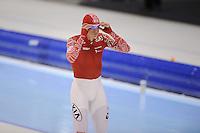 SCHAATSEN: HEERENVEEN: IJsstadion Thialf, 11-01-2013, Seizoen 2012-2013, Essent ISU EK allround, 5000m Men, Ivan Skobrev (RUS), , ©foto Martin de Jong