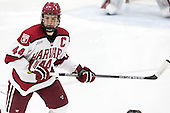 Max Everson (Harvard - 44) - The Harvard University Crimson defeated the visiting Princeton University Tigers 5-0 on Harvard's senior night on Saturday, February 28, 2015, at Bright-Landry Hockey Center in Boston, Massachusetts.