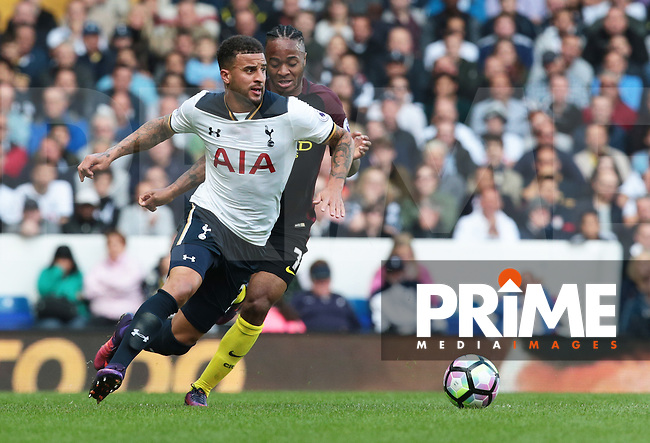 Tottenham Hotspur's Kyle Walker<br /> during the Premier League match between Tottenham Hotspur and Manchester City at White Hart Lane, London, England on 2 October 2016. Photo by Kieran  Galvin / PRiME Media Images.
