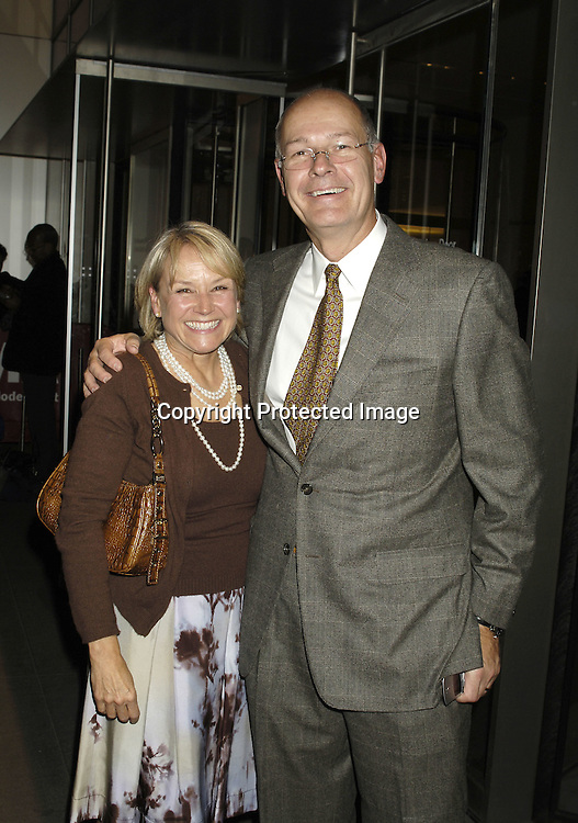 Andrea Joyce and husband Harry Smith ..at The Museum of Modern Art for a party for Prince Charles and The Duchess of Cornwall on November 1, 2005. ..Photo by  Robin Platzer, Twin Images