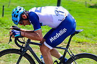 MEDELLIN - COLOMBIA, 13-02-2019: Oscar SEVILLA (ESP), Team Medellin, durante la segunda etapa del Tour Colombia 2.1 2019 con un recorrido de 150.5 Km, que se corrió entre La Ceja Canadá - Carmen de Viboral - Rionegro - Canadá - La Ceja. / Oscar SEVILLA (ESP), Team Medellin, during the second stage of 150.5 km of Tour Colombia 2.1 2019 that ran through La Ceja Canada - Carmen de Viboral - Rionegro - Canada - La Ceja.  Photo: VizzorImage / Anderson Bonilla / Cont