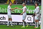 06.10.2019, Commerzbankarena, Frankfurt, GER, 1. FBL, Eintracht Frankfurt vs. SV Werder Bremen, <br /> <br /> DFL REGULATIONS PROHIBIT ANY USE OF PHOTOGRAPHS AS IMAGE SEQUENCES AND/OR QUASI-VIDEO.<br /> <br /> im Bild: Davy Klaassen (SV Werder Bremen #30) jubelt ueber sein Tor zum 0:1, mit dabei Christian Groß / Gross (SV Werder Bremen #36)<br /> <br /> Foto © nordphoto / Fabisch