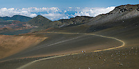Most popular hiking trail in HALEAKALA NATIONAL PARK on Maui in Hawaii is the Sliding Sands