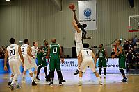 LEEK - Basketbal, Donar - Le Portel, Europe Cup, seizoen 2017-2018, 18-10-2017,  tip off van de wedstrijd met Donar speler Drago Pasalic