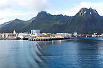 Harbour at Svolvaer, Lofoten Islands, Nordland, Norway