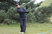 Anton Du Beke plays an approach to the 5th during the Hero Pro-am at the Betfred British Masters, Hillside Golf Club, Lancashire, England. 08/05/2019.<br /> Picture David Kissman / Golffile.ie<br /> <br /> All photo usage must carry mandatory copyright credit (© Golffile | David Kissman)