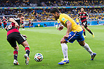 Philipp Lahm (GER), Hulk (BRA), JULY 8, 2014 - Football / Soccer : FIFA World Cup Brazil 2014 Semi Final match between Brazil 1-7 Germany at Estadio Mineirao in Belo Horizonte, Brazil. (Photo by Maurizio Borsari/AFLO)