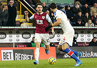 Burnley's Robbie Brady looks top take on Crystal Palace's Luka Milivojevic<br /> <br /> Photographer Rich Linley/CameraSport<br /> <br /> The Premier League - Burnley v Crystal Palace - Saturday 30th November 2019 - Turf Moor - Burnley<br /> <br /> World Copyright © 2019 CameraSport. All rights reserved. 43 Linden Ave. Countesthorpe. Leicester. England. LE8 5PG - Tel: +44 (0) 116 277 4147 - admin@camerasport.com - www.camerasport.com