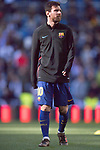 Lionel Andres Messi of FC Barcelona in training prior to the La Liga 2017-18 match between Real Madrid and FC Barcelona at Santiago Bernabeu Stadium on December 23 2017 in Madrid, Spain. Photo by Diego Gonzalez / Power Sport Images