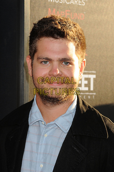 Jack Osbourne.'God Bless Ozzy Osbourne' Screening To Benefit The Musicares Map Fund held at the ArcLight Cinerama Dome, Hollywood, California, USA..August 22nd, 2011.headshot portrait black shirt blue stubble beard facial hair .CAP/ROT/TM.© TM/Roth/Capital Pictures