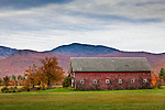 Fall foliage at a farm in Weld, ME, USA