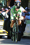 Primoz Roglic (SLO) Team Jumbo-Visma wearing the Green Jersey in action during Stage 10 of La Vuelta 2019 an individual time trial running 36.2km from Jurancon to Pau, France. 3rd September 2019.<br /> Picture: Luis Angel Gomez/Photogomezsport | Cyclefile<br /> <br /> All photos usage must carry mandatory copyright credit (© Cyclefile | Luis Angel Gomez/Photogomezsport)