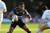 Semesa Rokoduguni of Bath Rugby in possession. European Rugby Challenge Cup match, between Bath Rugby and Pau (Section Paloise) on January 21, 2017 at the Recreation Ground in Bath, England. Photo by: Patrick Khachfe / Onside Images