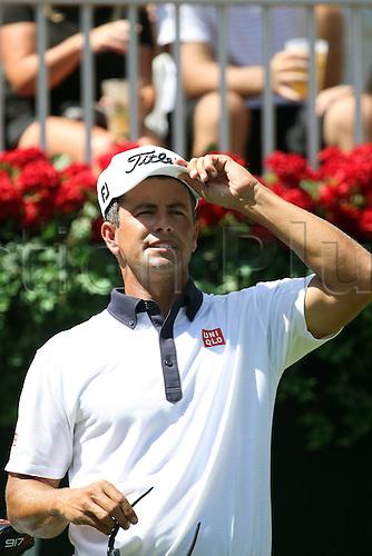 22.09.2016. Atlanta, Georgia, USA.   Adam Scott at the opening round of the 2016 PGA Tour Championship at East Lake Golf Club in Atlanta, Georgia.