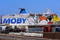 Fähre im Hafen von Bastia, Korsika, Frankreich